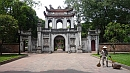 Az Irodalom templomának bejárata Hanoiban.
