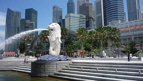 Szingapúr jelképe, az oroszlánfejû és haltestû Merlion - nézze meg nagyban is!