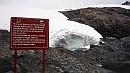 A globális felmelegedés évrõl-évre nyirbálja a gleccsert.