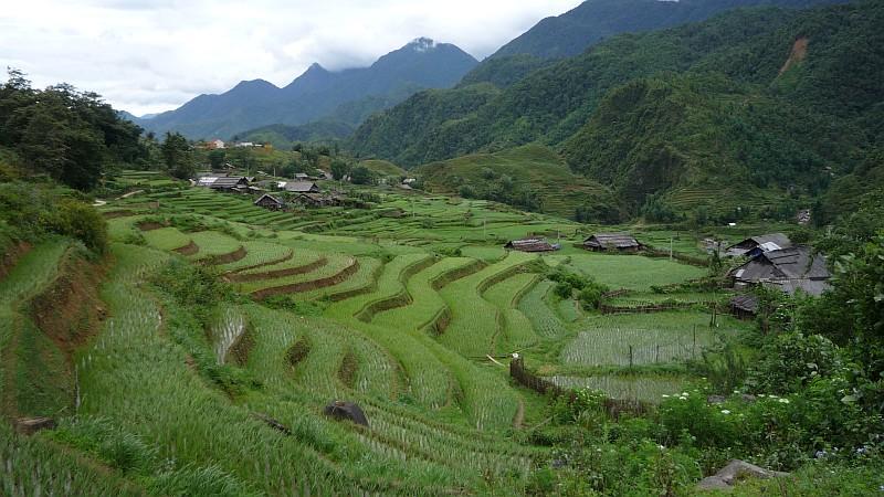 Hegyi falu Sapa közelében.