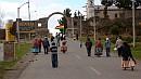 A zászló már a bolíviai oldalon lobog.