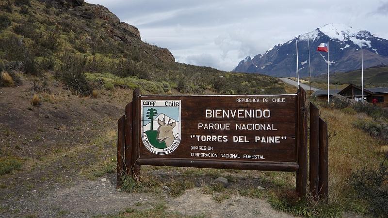 A Torres del Paine bejárata
