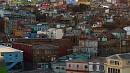Valparaíso egyik jellegzetessége a sok színes, hegyoldalba épült ház.